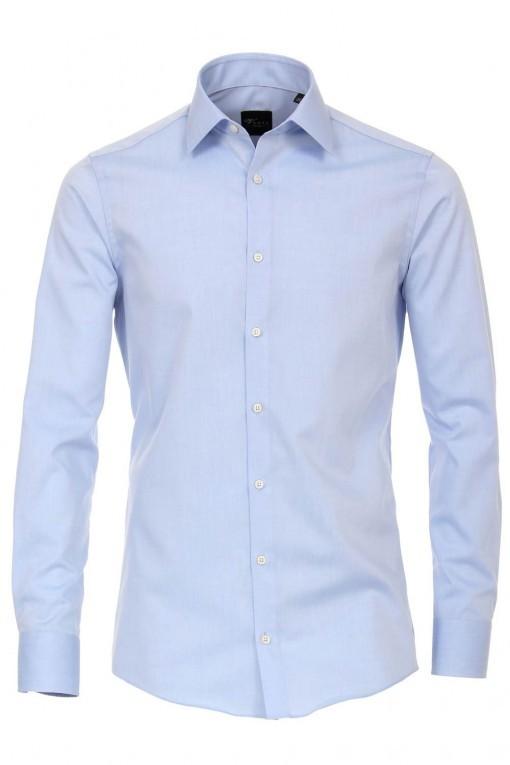 Venti slim fit overhemd lichtblauw