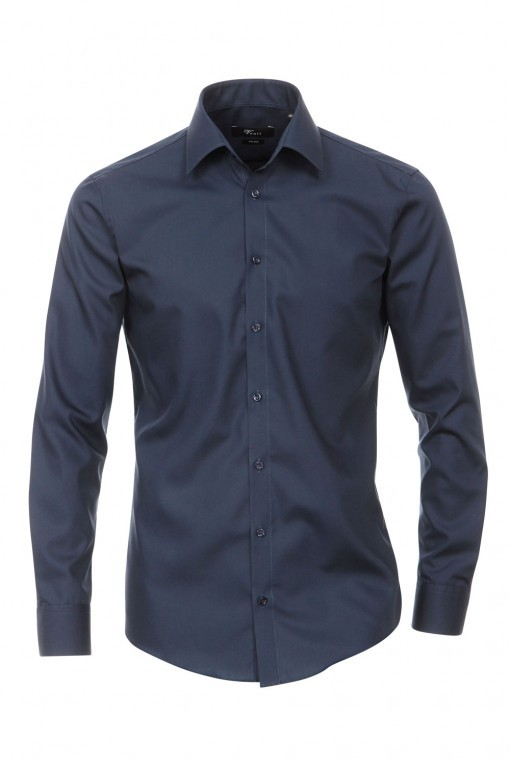 Venti Slim Fit Hemd Navy