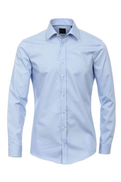 Venti Body Fit Hemd Blau