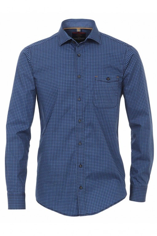 Casa Moda Hemd - Blau Print