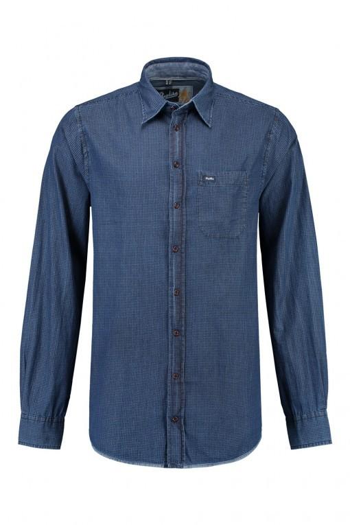 Replika Jeans Hemd Printed Denim