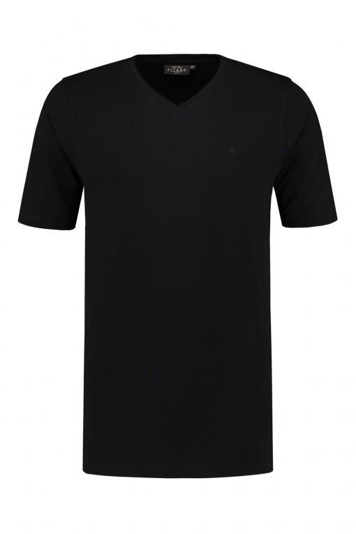 Kitaro T-shirt V-Ausschnitt - Schwarz
