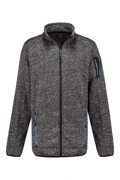 Brigg - Fleecejack grijs gemeleerd