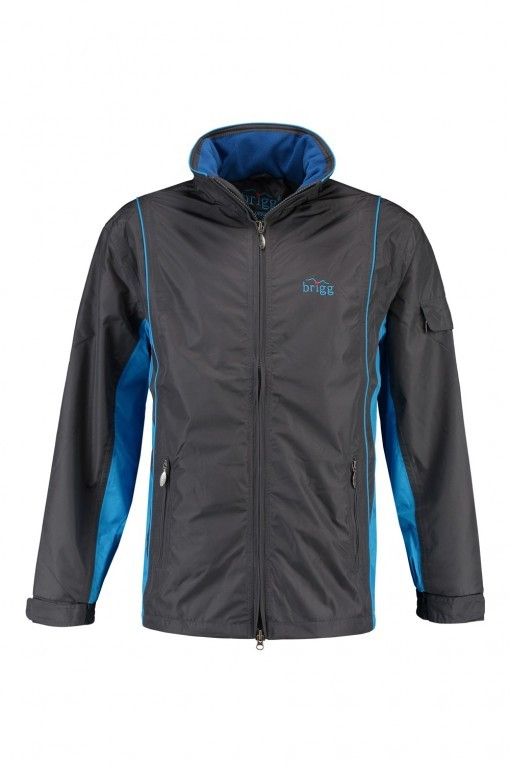 Brigg Outdoor Jacke - Dark Grey / Blue
