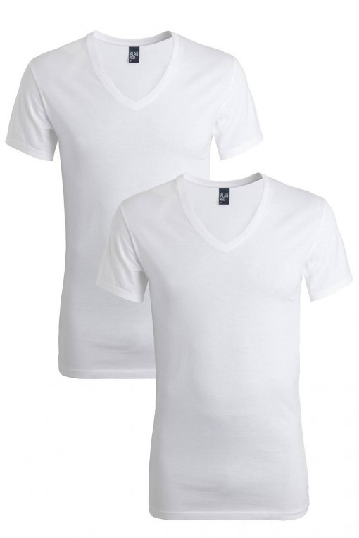 Alan Red Slim T-Shirt Oklahoma extra lang (2-pack)