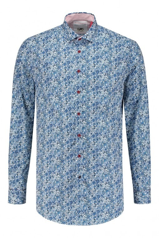 R2 Overhemd - Grijs print