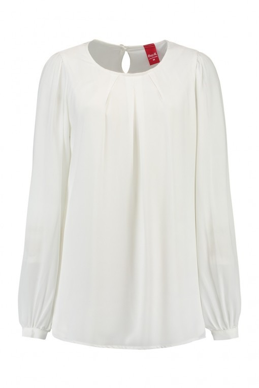 Only M - Bluse Crepon Off White