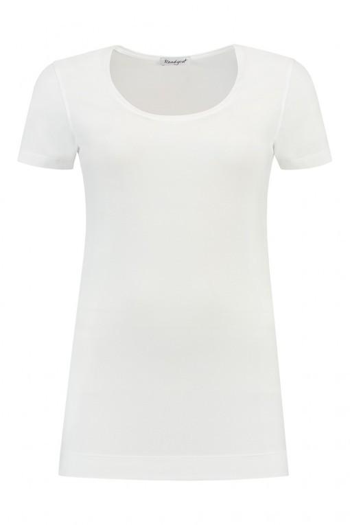 Basic Lang T-shirt - Weiß