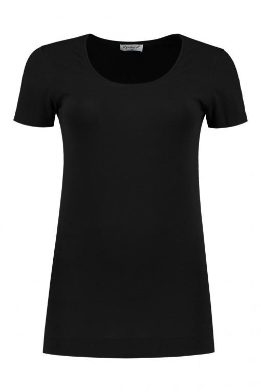 Basic Lang T-shirt - Schwarz