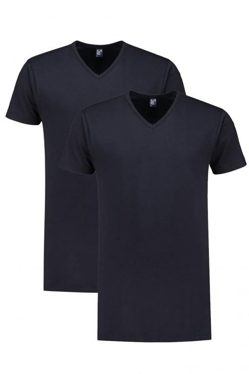 Alan Red T-Shirt - Derby Zwart extra lang