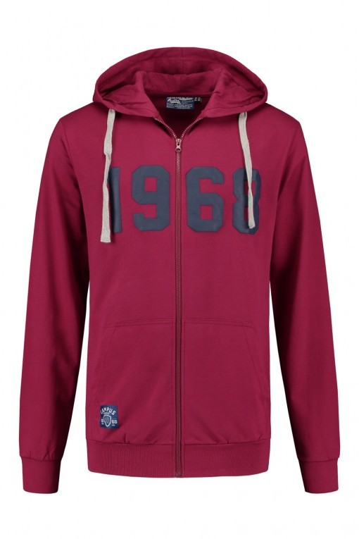 Replika Jeans Hooded Cardigan - Burgundy