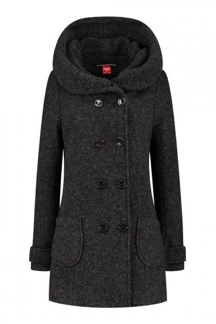 Only M Winter Trenchcoat - Zwart