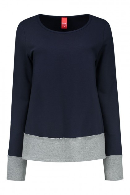 Only M - Pull Ronde hals Navy