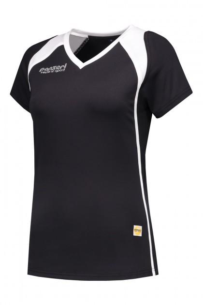 Panzeri Milano Cap Sleeves Shirt - zwart