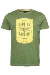 Replika Jeans T-shirt - Race Oil Olive