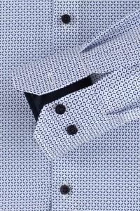 Venti Modern Fit Hemd - Muster Weiß/Blau