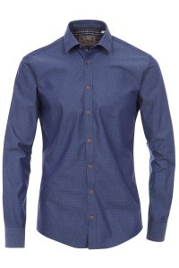 Venti Slim Fit Hemd Blau