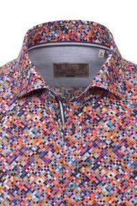 Venti Slim Fit Hemd Multicolour