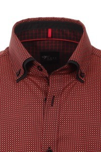 Venti Slim Fit Hemd - Rot Check