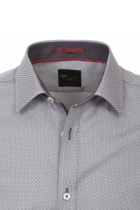 Venti Body Fit Hemd - Grey