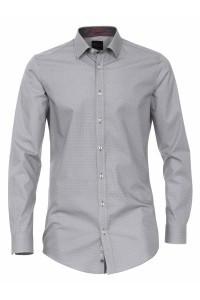 Venti Body Fit Hemd - Grey