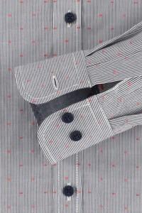 Casa Moda Casual Fit Hemd - Grau/Rot