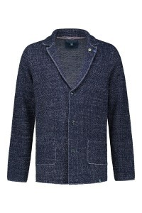 Colours & Sons Strickjacke - Blau Melange