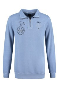 Kitaro Langarm Poloshirt - Ski Circuit blau