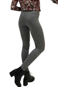 Madame Liz - Legging Basic Grey Dots