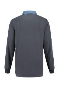 Kitaro Langarm Poloshirt - Dusty Navy
