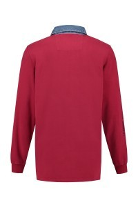 Kitaro Langarm Poloshirt - Garnet Red
