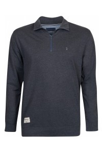 North 56˚4 Half Zip Sweater - Dunkelgrau