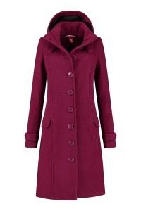 Only M - Wool Wintercoat Dark Pink
