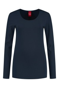 Only M - Basic O-neck top navy
