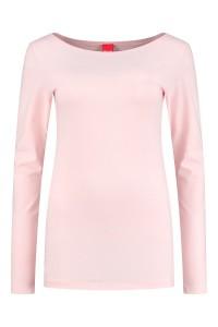 Only M - Basic boatneck top pink