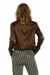 Only M - Bluse Fresh Brown