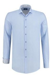 R2 Overhemd - Blauw/wit