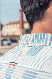 Colours & Sons - Hemd Blau Gestreift