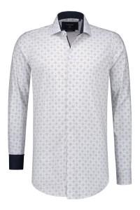 Corrino overhemd - Weiß/Blau