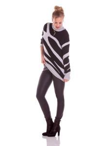 Only M - Rollkragenpullover Zebra
