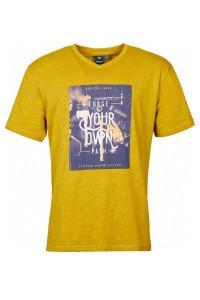 Replika Jeans T-Shirt mit V-Ausschnitt - Forge Mustard