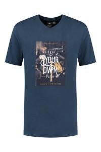 Replika Jeans v-hals T-shirt - Forge Navy