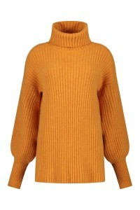 Only M Rollkragenpullover - Oversized orange