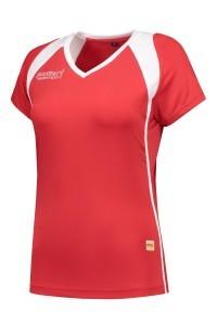 Panzeri Milano Cap Sleeves Shirt - Rot