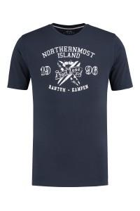 Kitaro T-Shirt - Surf Zone Dunkelblau