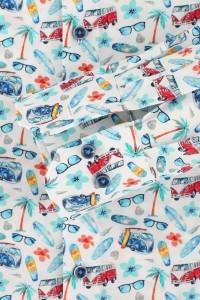 Venti Modern Fit Hemd - Surf Print