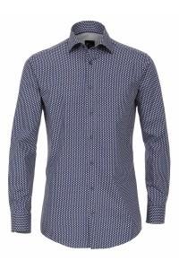 Venti Slim Fit Hemd - Dunkelblau Print