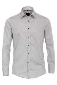 Venti Modern Fit Hemd - Grau-weiß