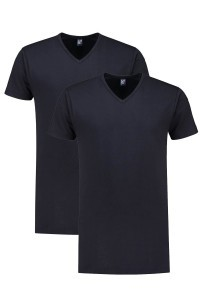 Alan Red T-Shirt - Vermont Navy Extra Lang - 2/pack
