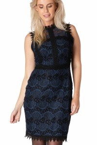 Yest Kleid - Peacock Schwarz/Blau